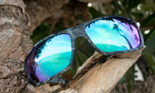 bril met spiegelglas