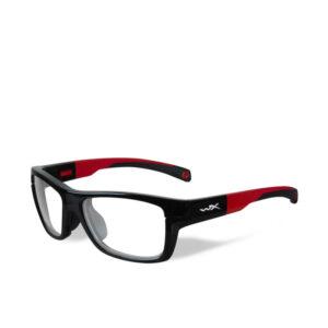 WileyX Crush Gloss Black/Red 10-16 jr
