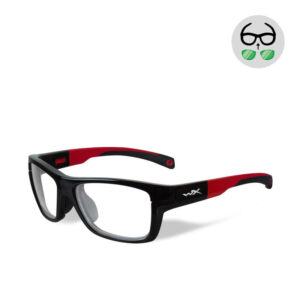WileyX Crush Gloss Black/Red 10-16 jr