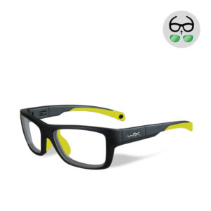 WileyX Crush Matte Grey / Neon Yellow 10 - 16 jr