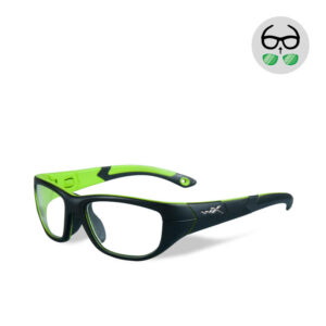 WileyX Victory  Matte Black / Lime Green 10 - 16 jr
