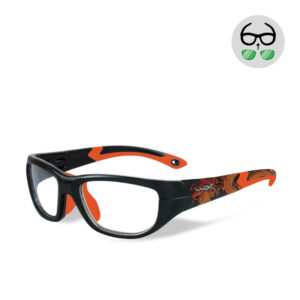 WileyX Victory Matte Black w/ Dragon / Sonic Orange 10 - 16 jr